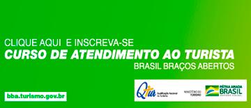 Clique aqui e increva-se curso de atendimento ao turista Brasil braços abertos.